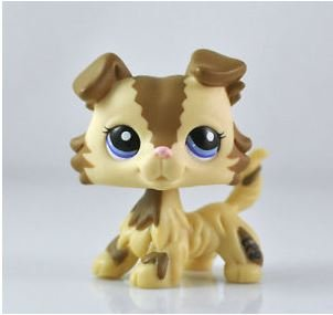 Grea Store Littlest Pet Shop LPS Pet Collie Dog Child Girl Figure Toy Loose Cute lps