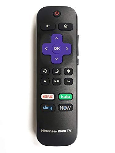 Original Hisense Roku TV Remote w/Volume Control & TV Power Button for All  Hisense Roku TV (Roku Built-in TV, NOT Roku Player Connect w/TV) (Renewed)
