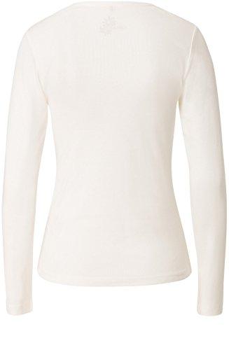 Olsen de color blanco mate e diseño de metálico en la parte superior y blanco