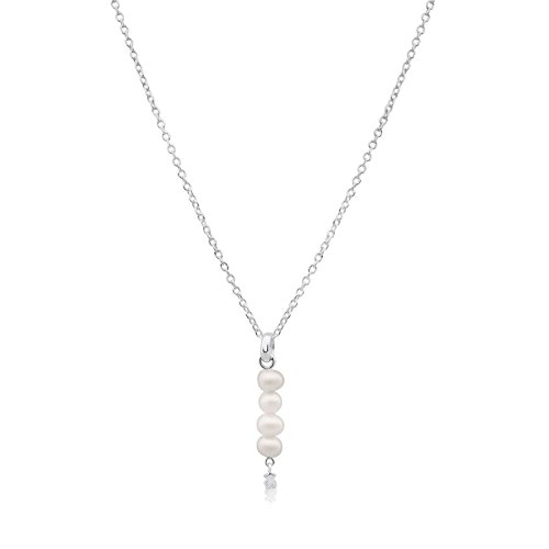TOUS Straight Fresh Water Pearl Drop Necklace