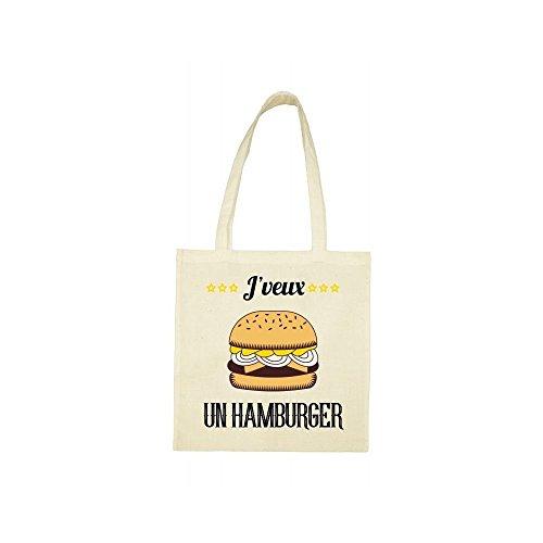jveux Tote hamburger bag beige un qEC1wH