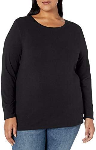 Amazon Essentials Women's Plus Size Long-Sleeve Crewneck T-Shirt