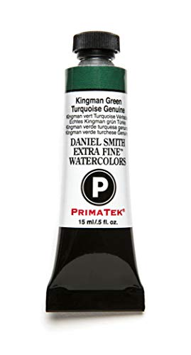 (DANIEL SMITH Extra Fine Watercolor 15ml Paint Tube, Kingman Green Turquoise)