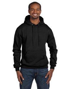 Champion Men's Front Pocket Pullover Hoodie Sweatshirt, Medium, Black