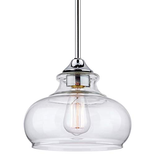 Chrome Industrial Pendant Light in US - 1