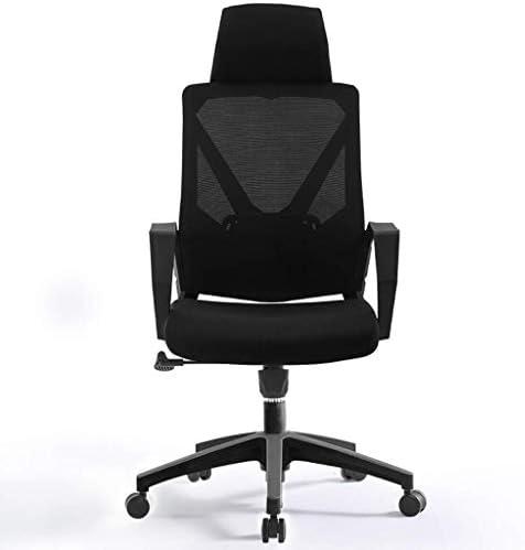 CHHDオフィスチェア、オフィスチェア、コンピュータチェア、デスクチェア、高さ調整可能、取り外し可能なヘッドレスト、360°回転(色:オレンジ)