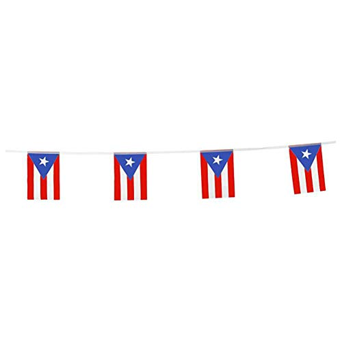 Puerto Rico Flags Puerto Rican Small String Flag Banner Mini National Country World Flags Pennant Banners For Party Events Classroom Garden Olympics Festival Grand Opening Bar Sports Clubs Celebration (Puerto Rico Party Decorations)