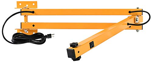60IN Heavy Duty Dock Mounting Arm 3 Arms 1-1/2 Square 14 Gauge Steel Tubing 7ft Cordset 120 Volt Yellow