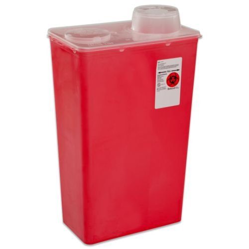 (Covidien 8881676236 Sharps-A-Gator Sharps Container, Chimney Top, 4 Quart, Red (Pack of 40))