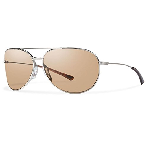 Smiths Blush - Smith Optics Rockford Slim Sunglasses, Palladium Frame, Blush Silver Flash Carbonic TLT Lenses