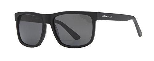 ALPHA MAAN Sedona Wayfarer Sunglasses | Polarized + AR Coating | Ink