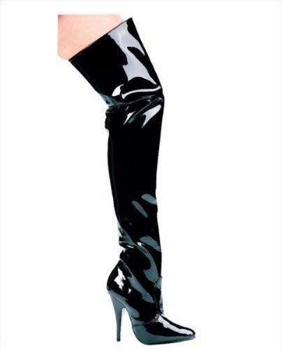 Ellie Shoes E-Susie 5'' Heel Thigh High Boots. Black 12