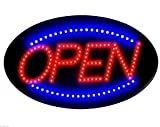 2017 Latest Jumbo 24'' x 13'' LED Neon Sign with Motion - ''OPEN'' (Blue/Red) B30