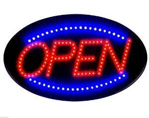 2017 Latest Jumbo 24'' x 13'' LED Neon Sign with Motion - ''OPEN'' (Blue/Red) B30 by e-onsale