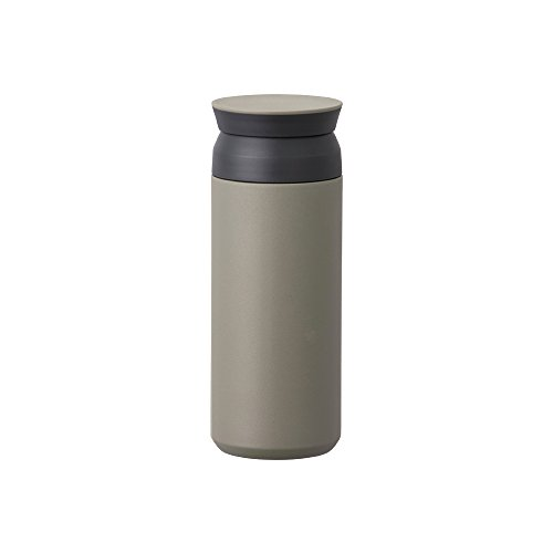 Kinto Travel Tumbler - Insulated Bottle Khaki 17oz- Double Walled and Vacuum Insulated, Which Keeps Your Favorite Beverage Hot Or Cold for Hours