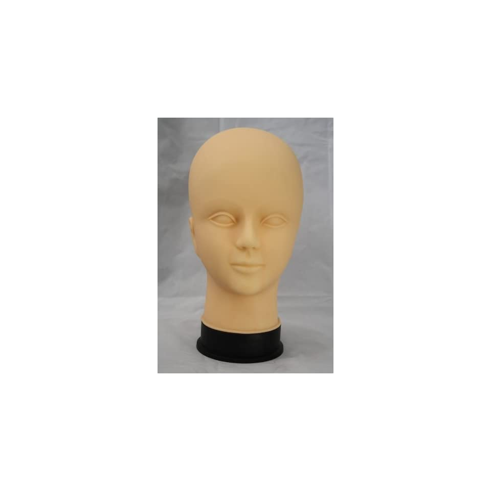 Hair Art Mannequin Head Hard Rubber Female Cosmetolgy Rubber face for