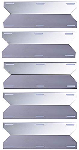 Votenli S9123A (5-Pack) Stainless Steel Heat Plate for Costco Kirland, Glen Canyon, Jenn-Air 730-0337 Jenn-Air 720-0336 Jenn-Air 720-0061-LP (Stainless Steel(17 3/4 x 6 3/8))