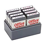 Office Depot Mini Message Stamp Kit, Blue/Red Ink, 032542