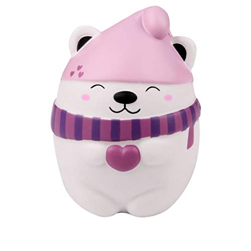 Jieson Squishies Toy Cute Bear - Kawaii Cream Scented Squishies Very Slow Rising Kids Toys Doll GIF - Collection Stress Relief Toys - Decorative Decompression Squeeze Props -