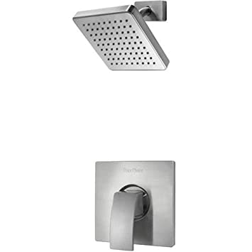 Pfister G89 7DFK Kenzo Single Control Shower Faucet Trim with Square Shower  Head  BrushedPfister G89 7DFK Kenzo Single Control Shower Faucet Trim with  . Black Shower Head And Faucet. Home Design Ideas