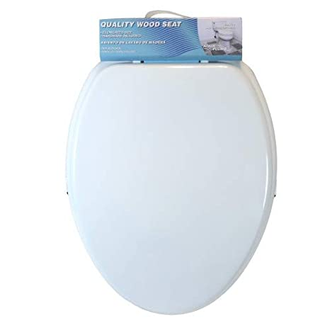 Magnificent Toilet Seat Elongated By Aqua Plumb All Hardware Included Durable Coated Premium Paint Durable Color Matched Hinges Fits All Manufacturers Short Links Chair Design For Home Short Linksinfo