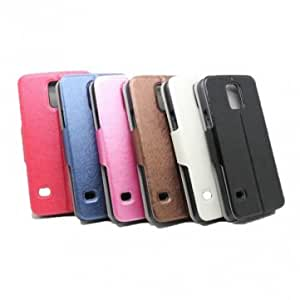 New Flip-open PU Leather Protective Case For Samsung Galaxy S5 & Color = Pink
