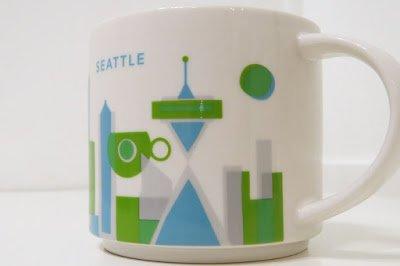 Starbucks 2013 You Are Here Anthology, Seattle Mug 14 oz