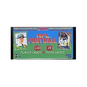 1989 Score Football Complete Mint 330 Card Factory Set. This Set Is Loaded with Rookie Cards Including Barry Sanders, Troy Aikman, Cris Carter, Deion Sanders, Tim Brown, Michael Irvin, Thurman ()