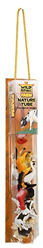 - Wild Republic Farm Figurines Tube, Horse, Cow, Donkey, Duck, Sheep, Chicken, Rooster, Pig, Dog, Cat, Goat, 16 Piece playset