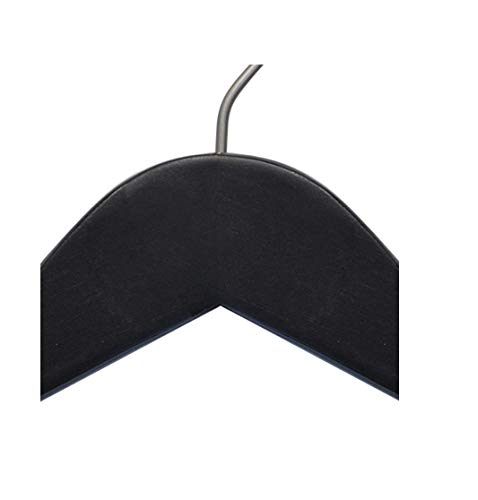 NAHANCO 20217 Wooden Top Hanger, Flat, 17'', Low Gloss Black Finish (Pack of 100) by NAHANCO (Image #5)