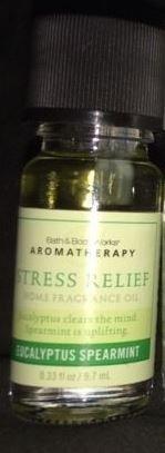 Bath & Body Works Aromatherapy Eucalyptus Spearmint Home Fragrance Oil .33 Oz