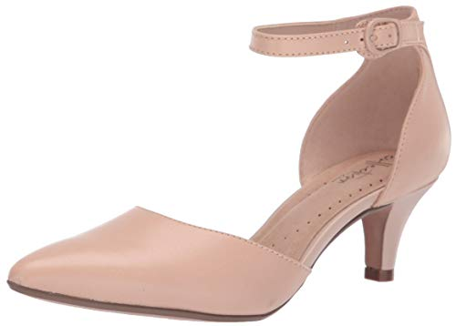 CLARKS Women's Linvale Edyth Pump Nude Leather 110 M US