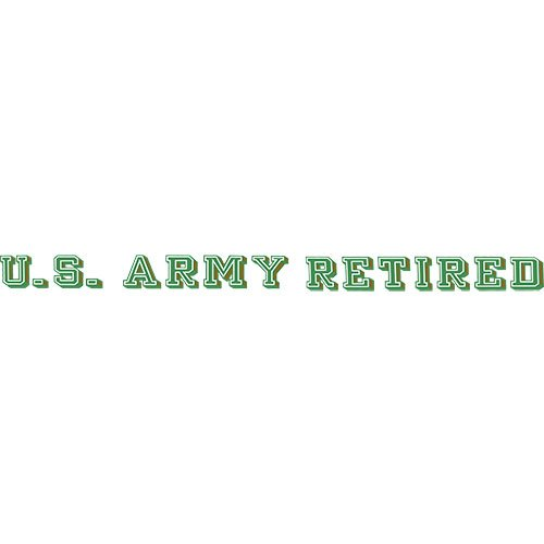 (U.S. Army Retired Clear Window Strip)