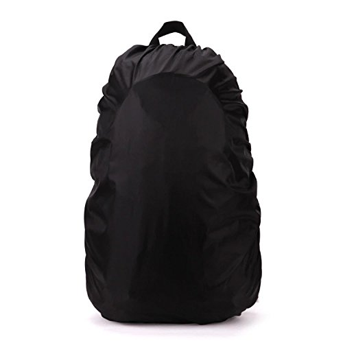 Waterproof Backpack Cover for School Bags Outdoor Activities Bags Luggage Bags Rain/Dust Cover Black 35-40 L Aszune