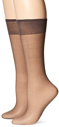 Discount Veils Wedding (Hanes Silk Reflections Women's 2-Pack Knee High Sandalfoot, Barely Black, One Size)