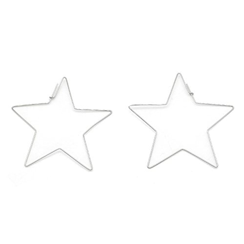 Gome-z Large Star Large Hoop Earring For Women Grill Gold Silver Statement Earrings Bijoux Jewelry Party Club LE0196 - Co Online Shop Tiffany