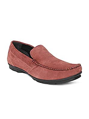Ruosh Casual Men's Loafers & Moccasian 44 EU Shoes, Red