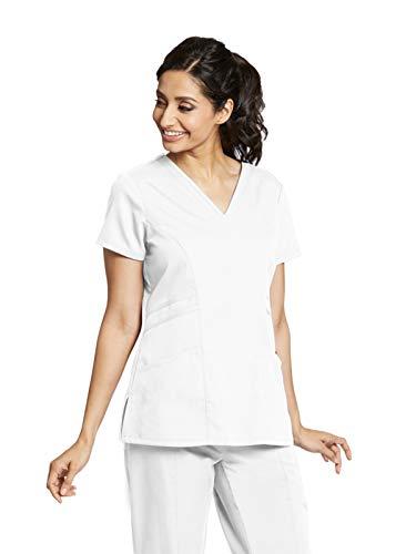 2xl Xxl Scrubs - Grey's Anatomy 41452 V-Neck Top White 2XL
