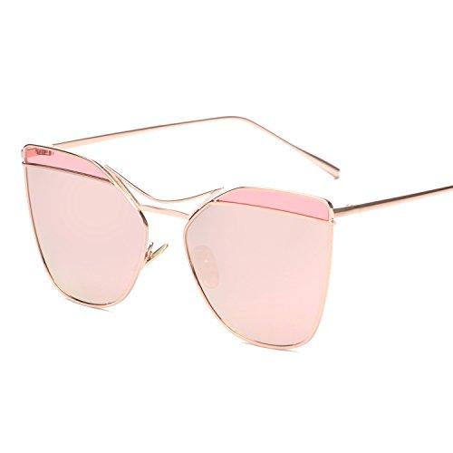 Vivian & Vincent Premiun Oversized Cat Eye UV Protection Sunglasses Eyewear Rose Gold Frame Rose Gold - Sunglasses Eye Cat Express
