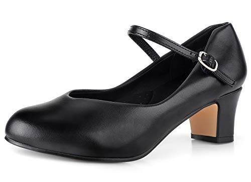 """SKOEX Character Shoes for Women 2"""" Heel Black/Tan Size 9 M US"""