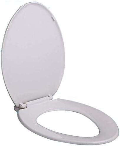 IAIZI 抗菌ボトム遅くなることはありませ付き便座のVシェイプユニバーサル便座は、バスルーム、洗面所、A-46.8-48.8Cm * 36.1Cmについて肥厚トイレのふたをマウント