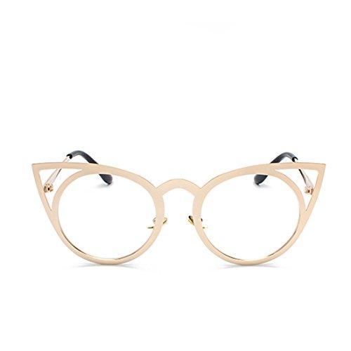 Gafas de Redondo de de de Oro Lente ojo Gafas metal Espejo sol gato Marco Gafas Aiweijia Unisex de Marco sol 8Bwvq64n