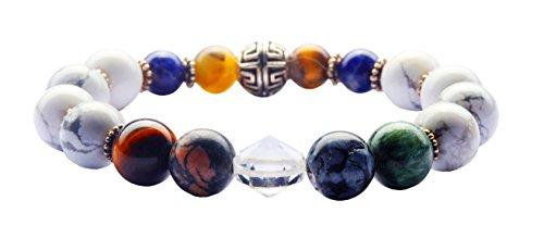 INDRA Transformational Chakra Bracelet. Natural Crystal Gemstones supercharged with Usui Reiki, Seraphim Blueprint, & Dowsing Protocols (Medium)