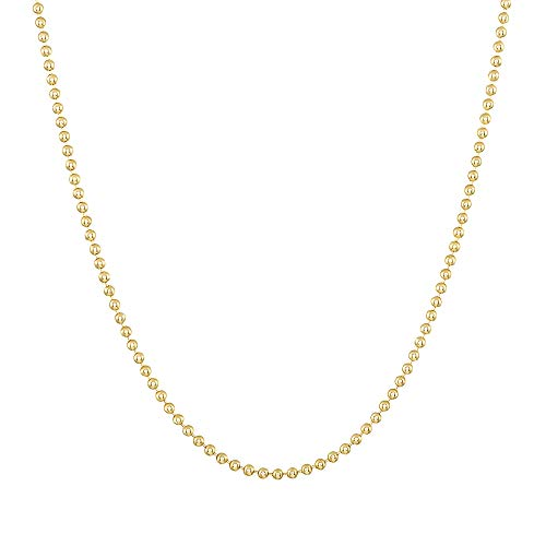 TousiAttar 14k Yellow Gold-Filled Ball Chain 1.5MM Necklace Gauge 14 Pendant for Jewelry 16-18 - 20-24 - 30-36 inches (16)