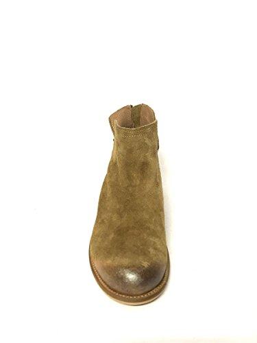 Camoscio Zeta Shoes Mainapps Pelle In Donna Marrone Vintage Stivaletti Caviglia Alla Cuoio gTwq8R6