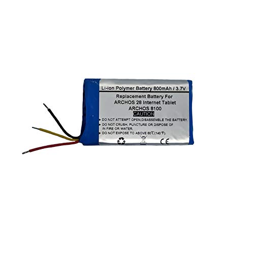 800mAh/3.7V Replacement Battery for ARCHOS 28 Internet Tablet, 8100,ARCHOS 39A402850