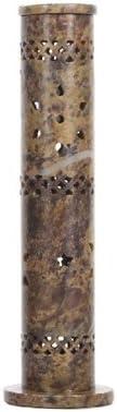 Ideal for Aromatherapy Reiki Chakra Settings Hosley Aromatherapy 10.75 High Soapstone Tower Incense Holder O4 Zen Vastu Spa
