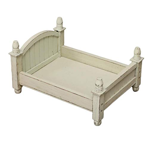 Luckycyc Baby Small Photography Bed, Cot Baby Photo Studio Photography Props Newborn Small Wooden Crib for Baby Boys Girls Or Photo Home Accessories