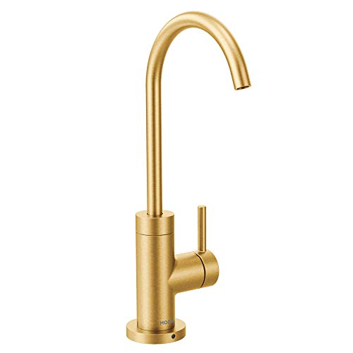 Moen S5530BG Sip Modern Cold Water Kitchen Beverage Faucet with Optional Filtration System, Brushed Gold