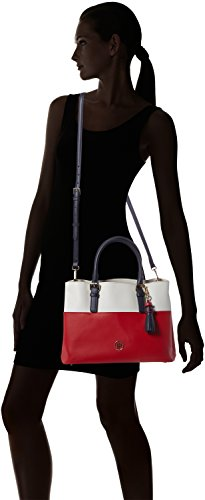 Tommy Hilfiger Summer Of Love Small Tote Colourblock - Borse Donna, Weiß (Rwb Colourblock), 12x25x33 cm (L x H D)